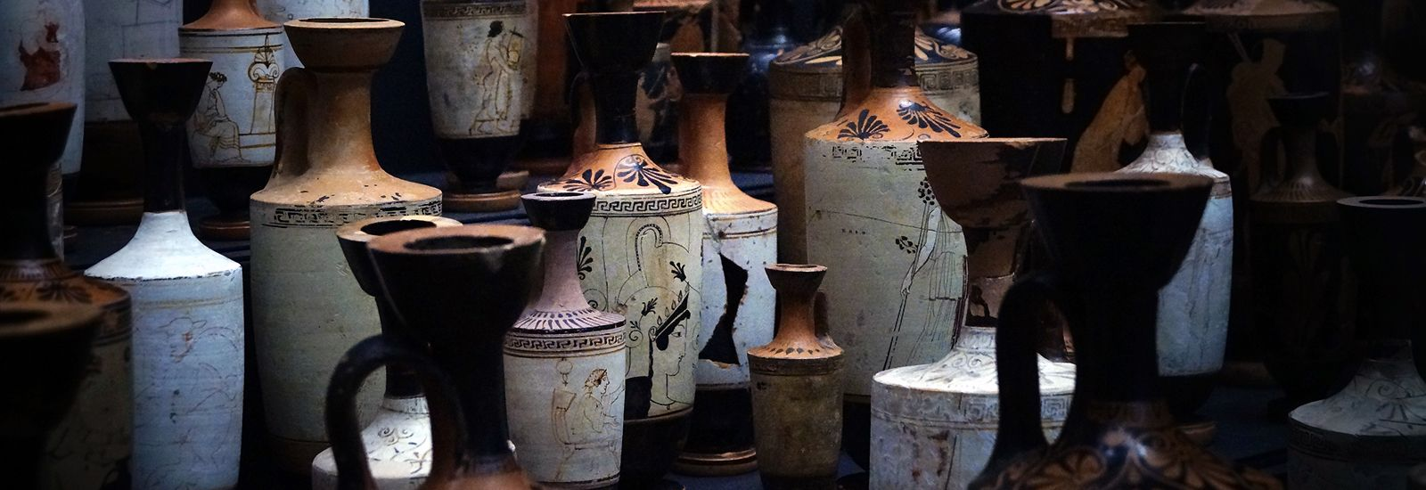 A collection of old vases