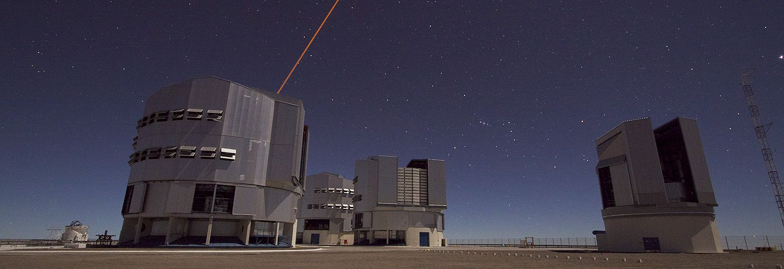 The Very Large Telescope in Chile at night