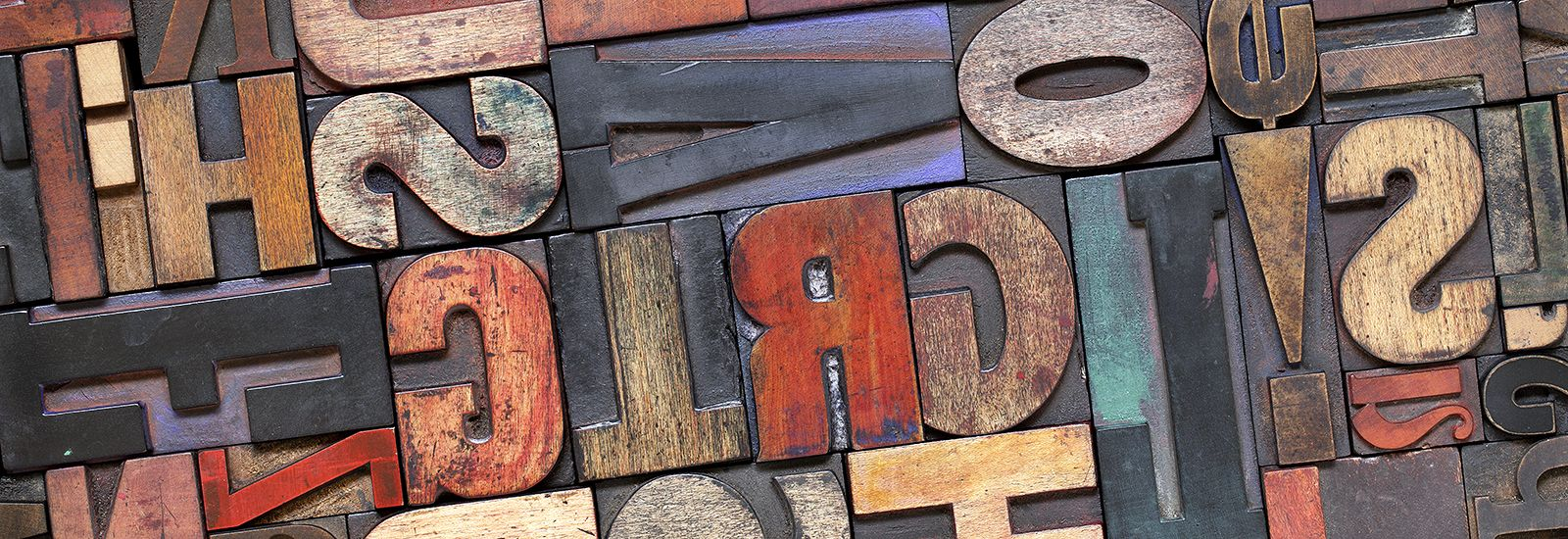A close up of wooden printing blocks