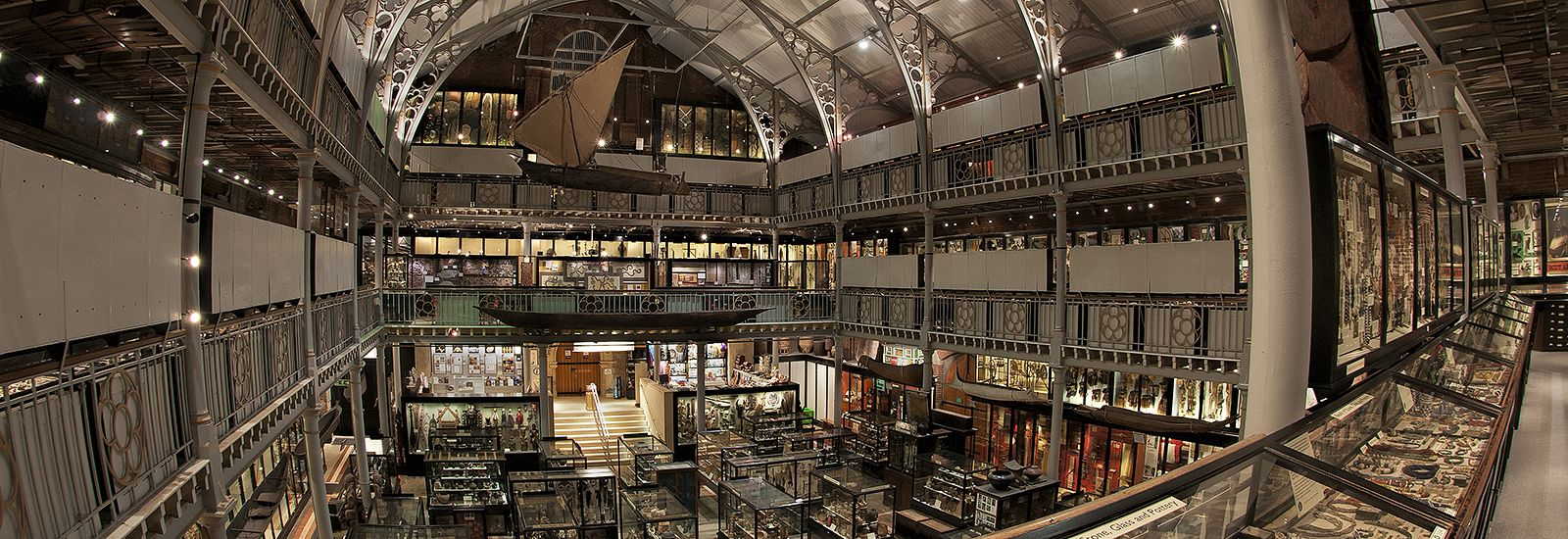 Wide shot of inside the Pitt Rivers Museum