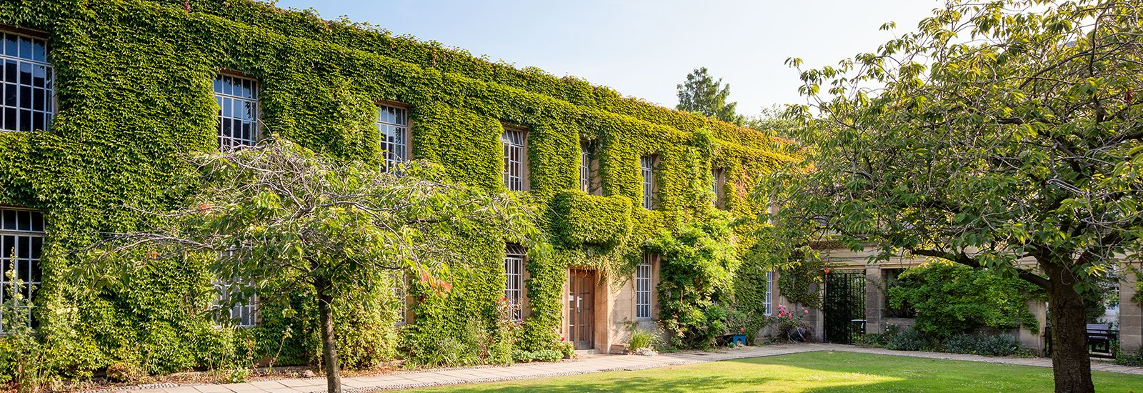 Buildings at Regent's Park covered in ivy