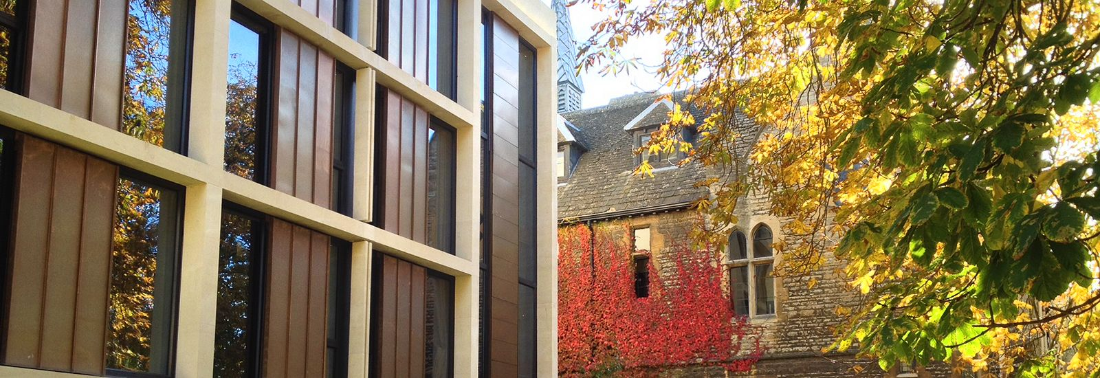 New and old buildings at St Antony's College