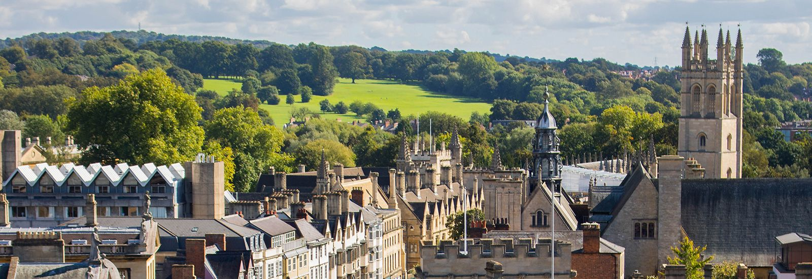 Spires of Oxford with Magdalen Tower and South Park in the distance