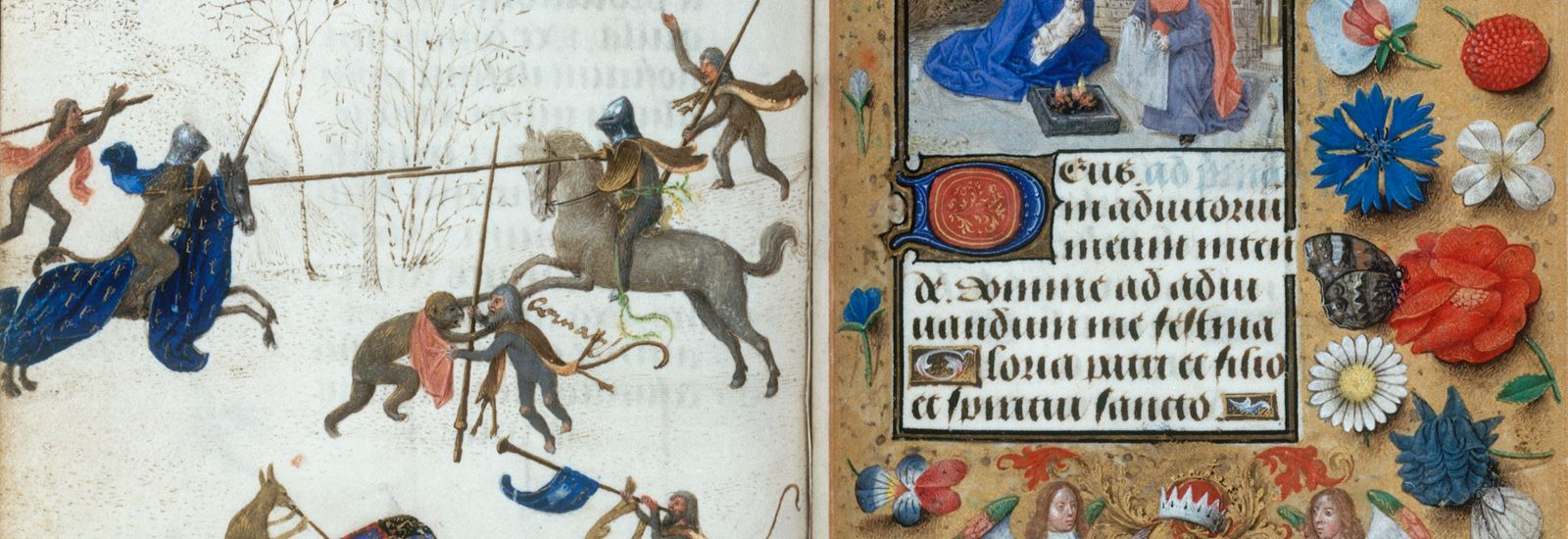Illustrations from The Hours of Engelbert of Nassau