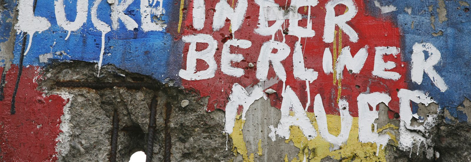 Graffiti on one of the remaining sections of the Berlin wall, Germany