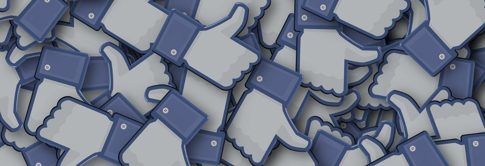 A mass of social media 'thumbs up' icons