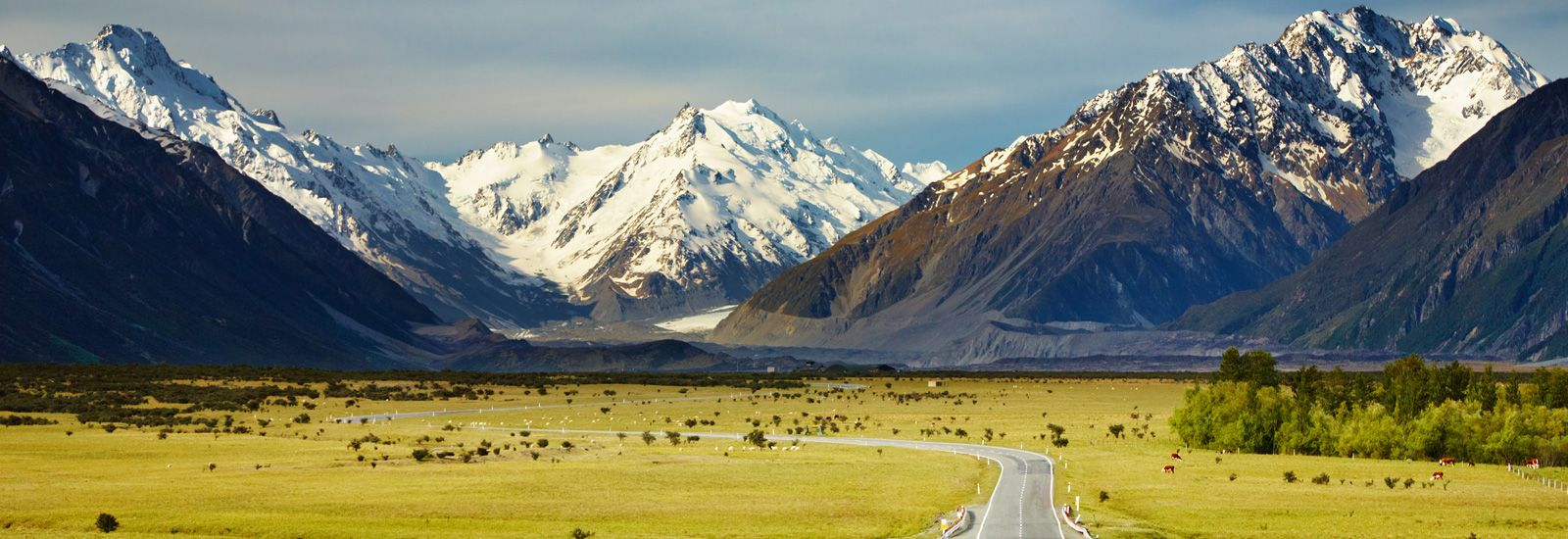 The Southern Alps mountains in New Zealand