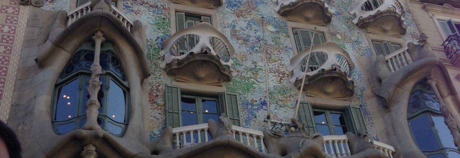 Casa Battló by Antoni Gaudí, Passeig de Gràcia, Barcelona