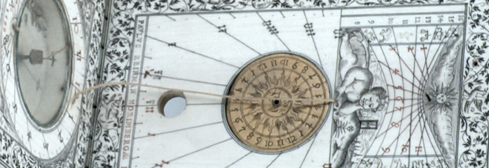 Detail of a diptych sundial made by Paul Reinmann in 1599