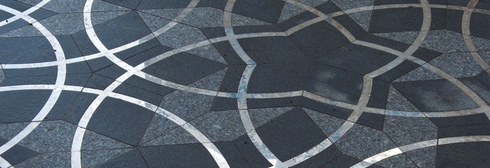 Paving outside the Maths Institute, Oxford
