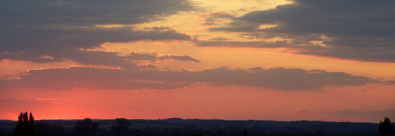 Oxford sky at dusk, UK.