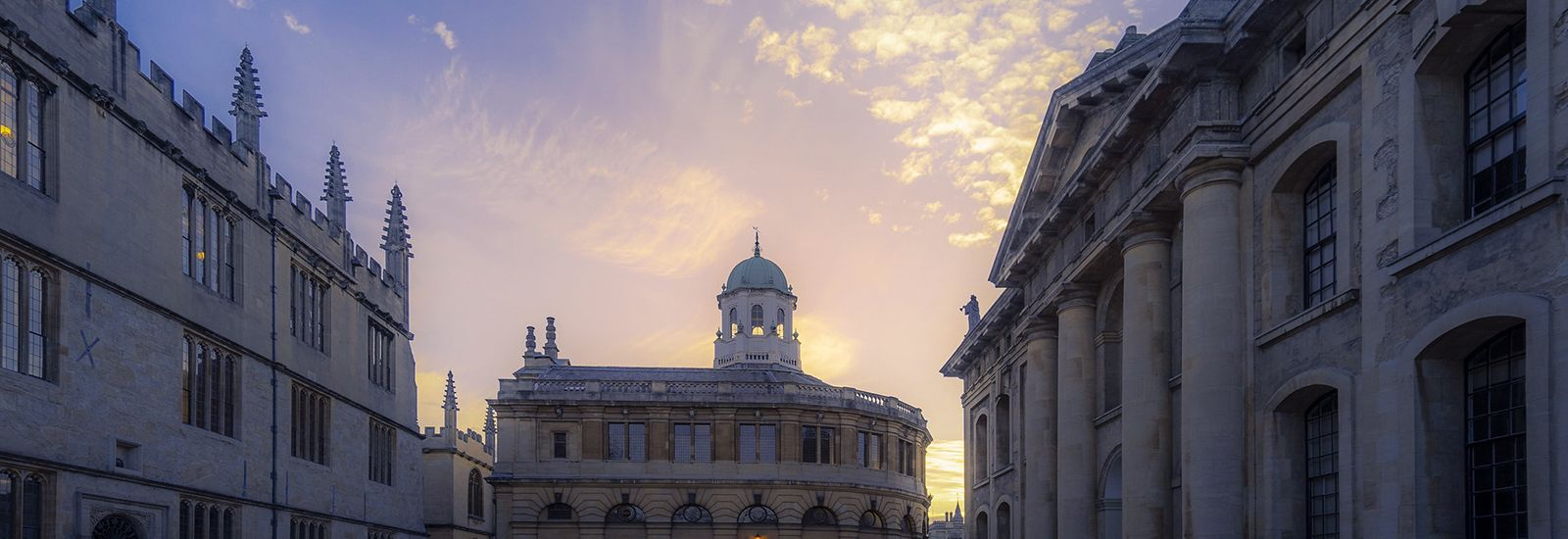 The Bodleian, Sheldonian and Clarendon buildings at sunset