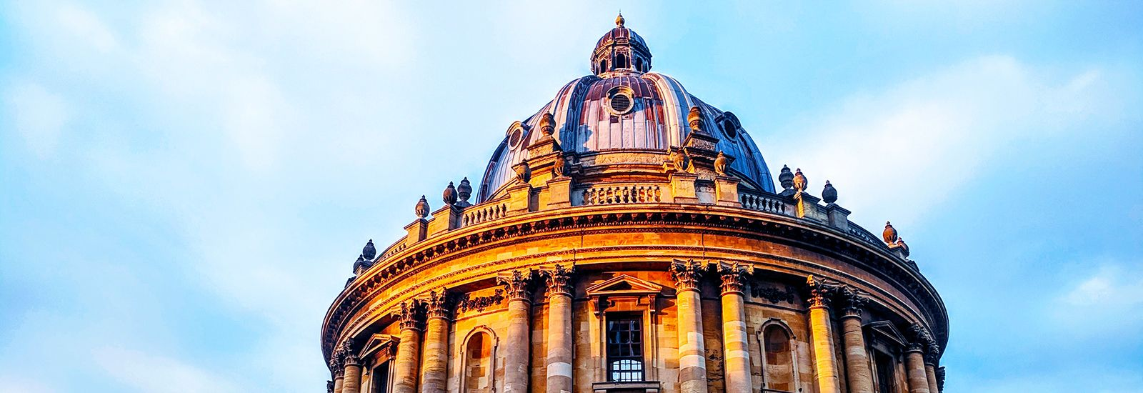 The Radcliffe Camera against a blue sky