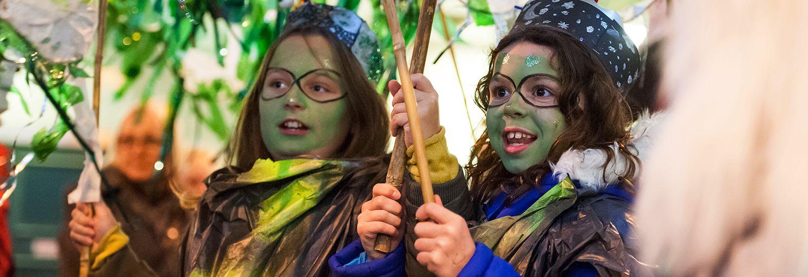 Children taking part in the city's Light Night Festival
