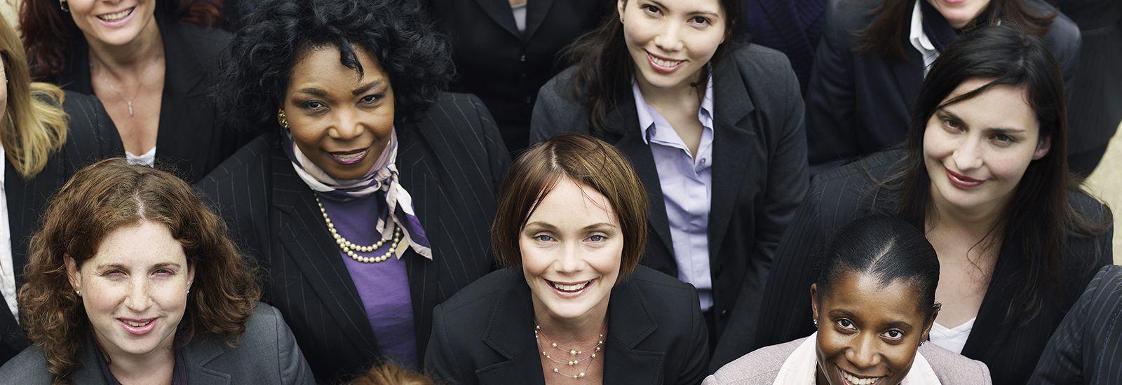 Group of smiling businesswomen
