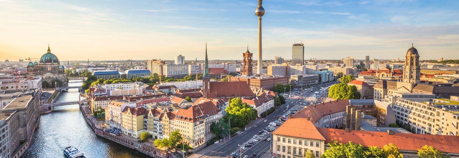 Panorama of the Berlin skyline.