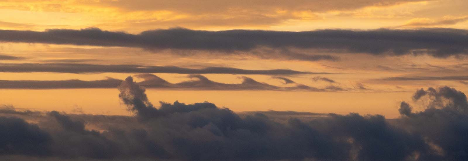 Photo of waves in clouds