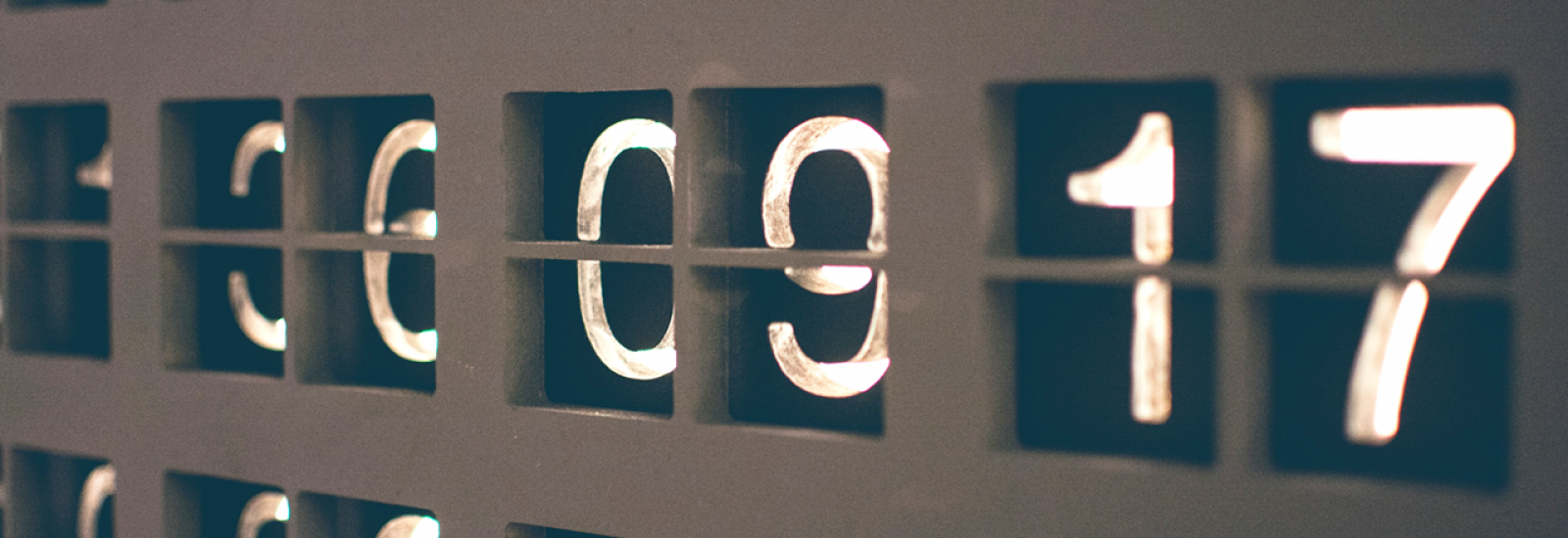 Selection of numbers on a display board
