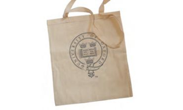 Bag with univeristy logo