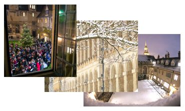 College Christmas cards