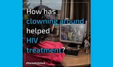 How has clowning around helped HIV treatment