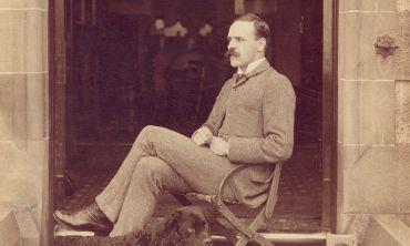 John Scott Haldane in his home at 11 Crick Road, Oxford