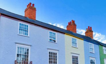 Colourful houses on Longwall Street