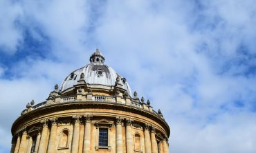 Looking up at the Radcliffe Camera