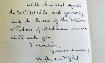 A letter from A A Wright (matric 1908), killed in action in France on September 4, 1918.