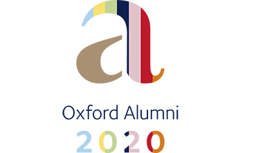 The letter a with the words Oxford Alumni 2020