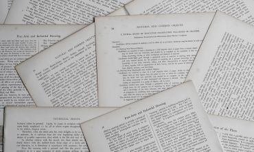 A collection of paper documents