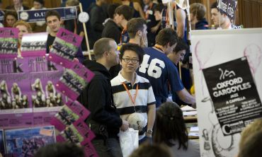 Freshers Fair at the University of Oxford