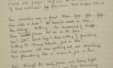 Example of handwritten World War One poetry