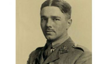 Photograph of WW1 poet, Wilfred Owen