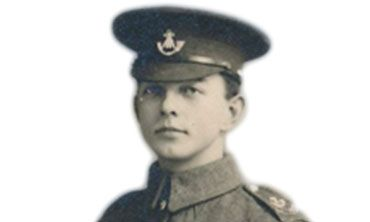 Silhouette of a First World War soldier