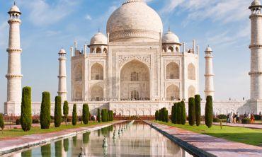 A view of the Taj Mahal