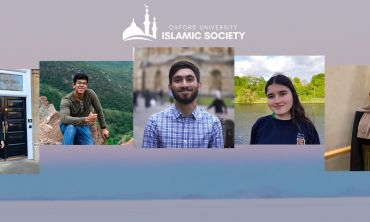 Portraits of OUISoc committee members with OUISoc logo