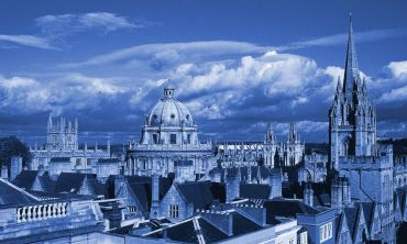 Oxford skyline in blue tones