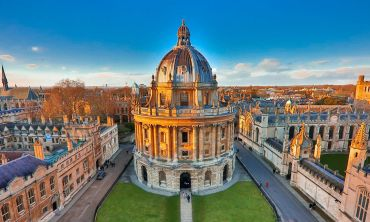 An aerial view of the Radcliffe Camera