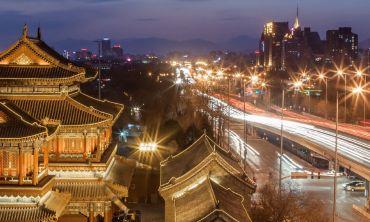 Winter sunset at Lama Temple, Beijing