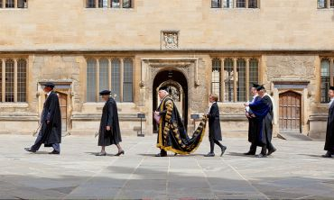 Procession of the Chancellor Lord Patten of Barnes at Encaenia
