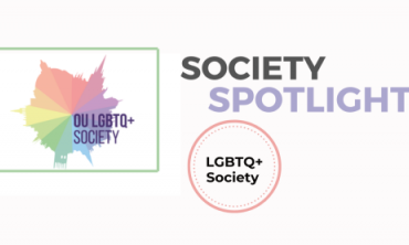 Society Spotlight - Oxford LGBTQ+ society text and logo