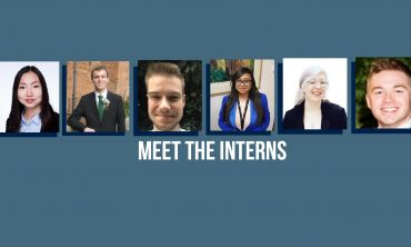 6 interns with Meet the interns text in white