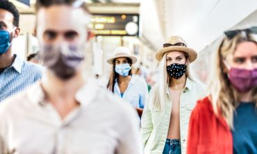 the risk of infection is diminished when individuals wear face  covering/masks