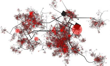 Visualisation of aerial map with contact tracing hot spots