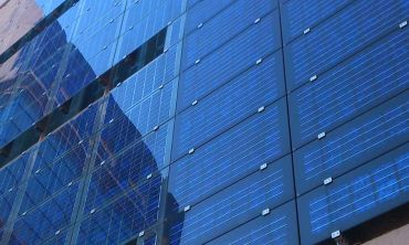 Photovoltaic solar facade on a municipal building, Spain