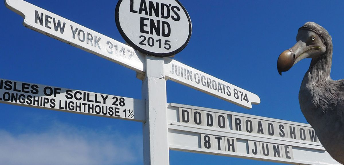 Dodo with signpost
