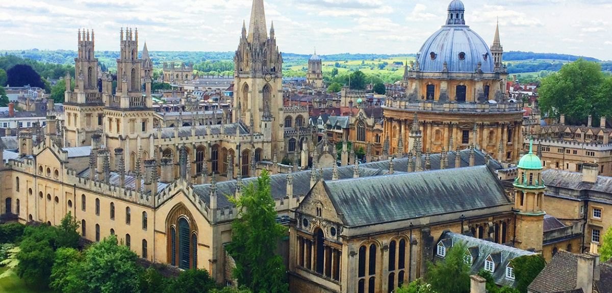 View from New College bell tower, Oxford