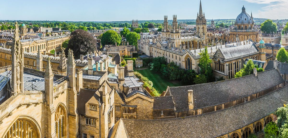 Oxford skyline, wide angle