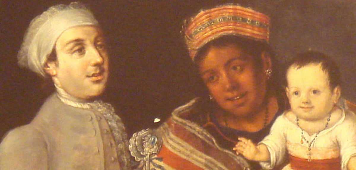 A 1770 painting showing Spanish, Peruvian and mixed-race people